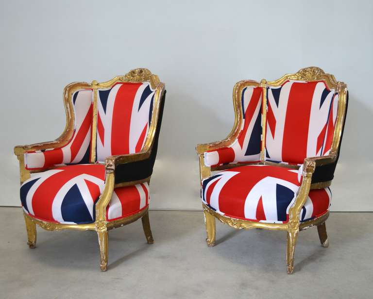 Pair of French Louis XV Style Bergeres For Sale 4