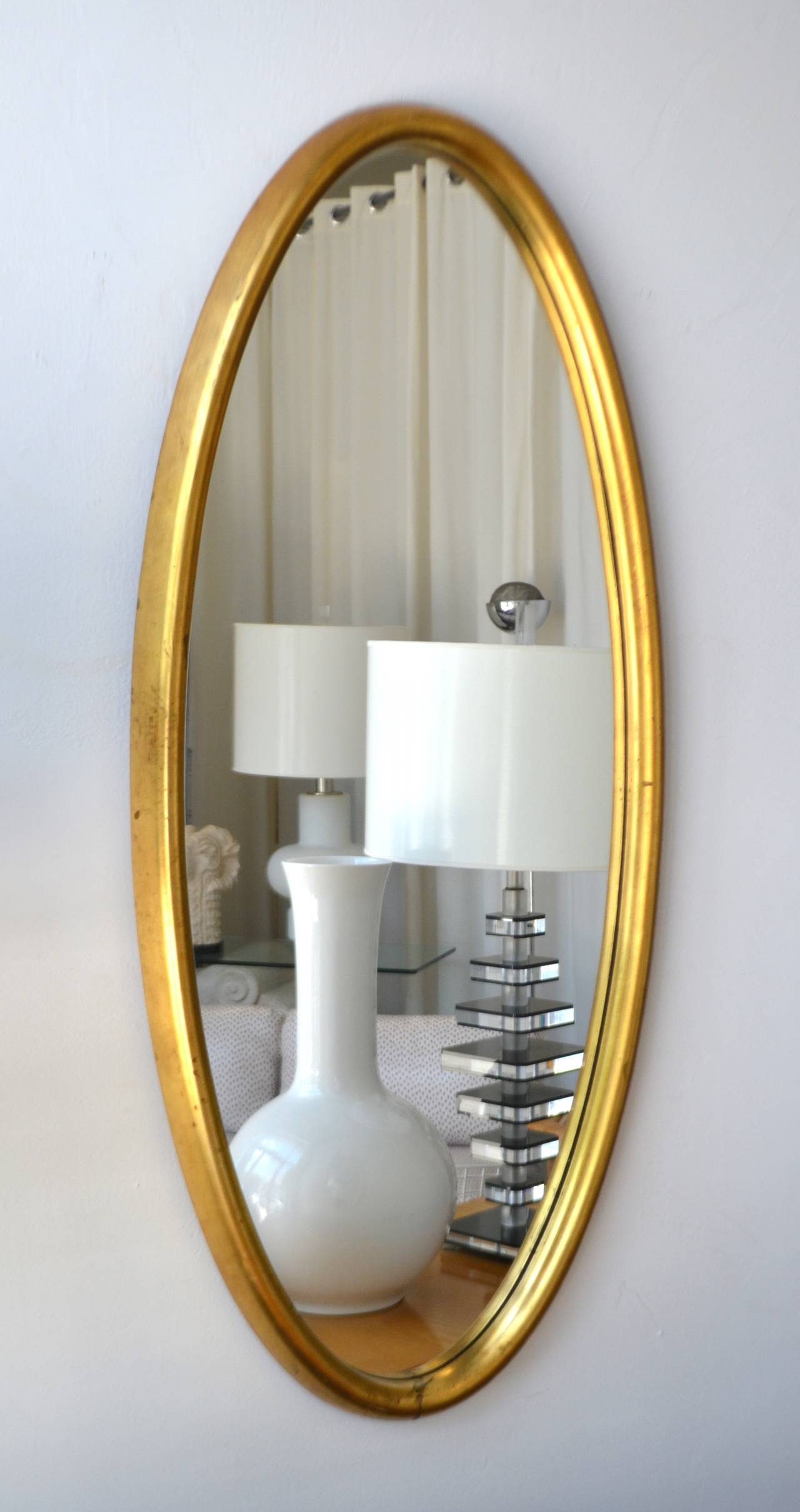 Mid-Century Modern Midcentury Giltwood Wall Mirror For Sale