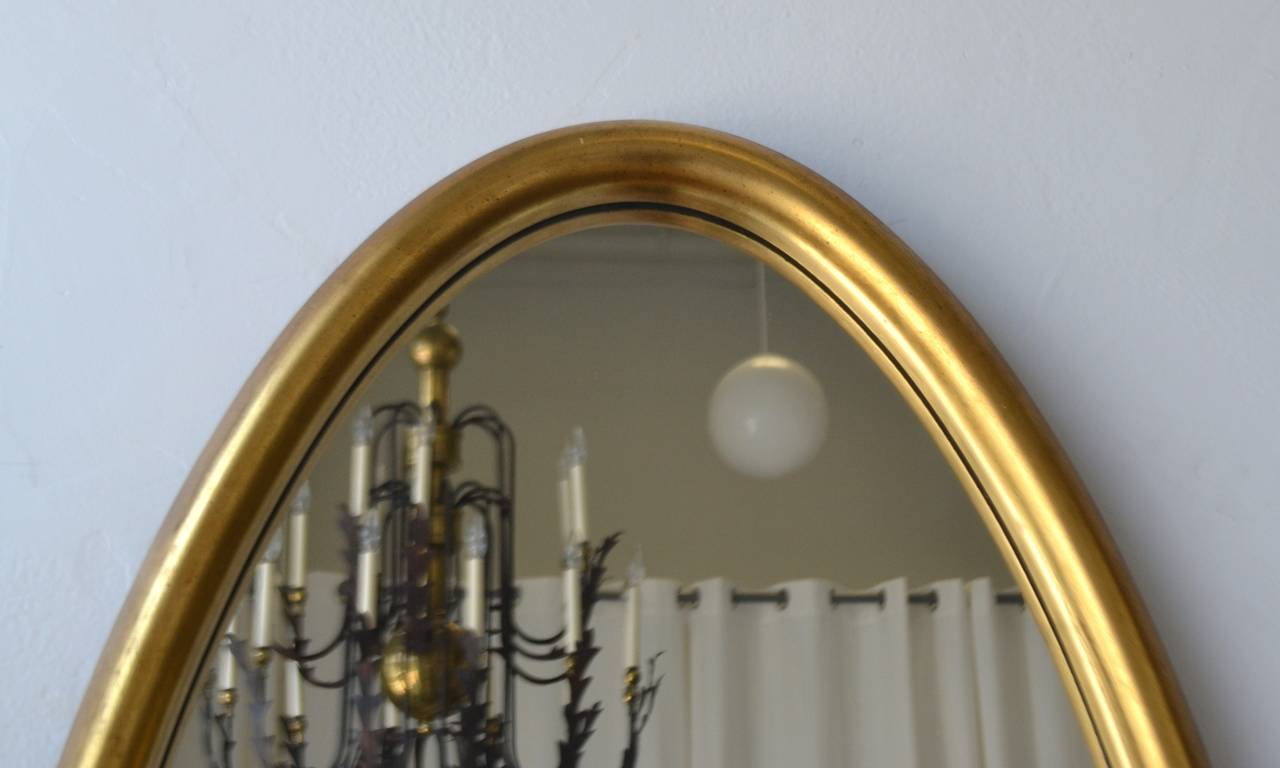 American Midcentury Giltwood Wall Mirror For Sale