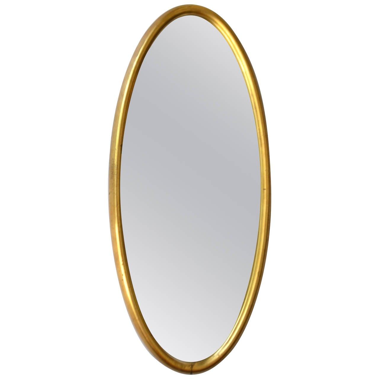 Mid-Century Giltwood Wall Mirror