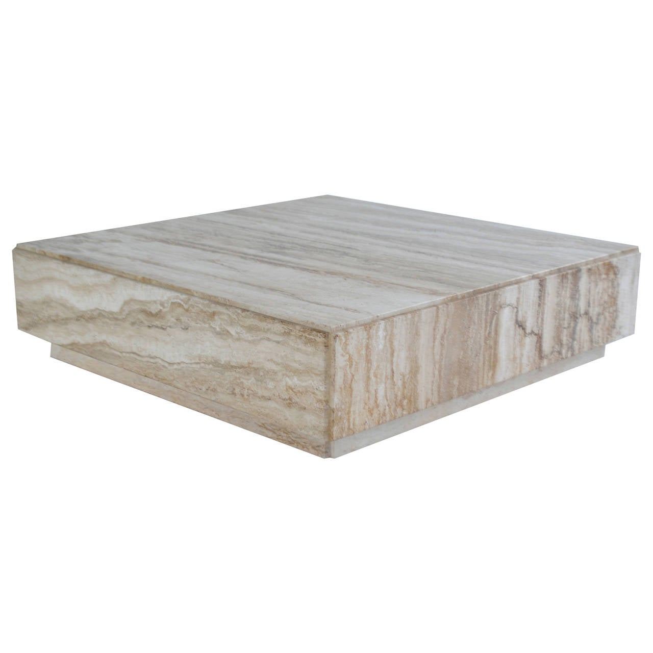 Travertine Cocktail Table At 1stdibs