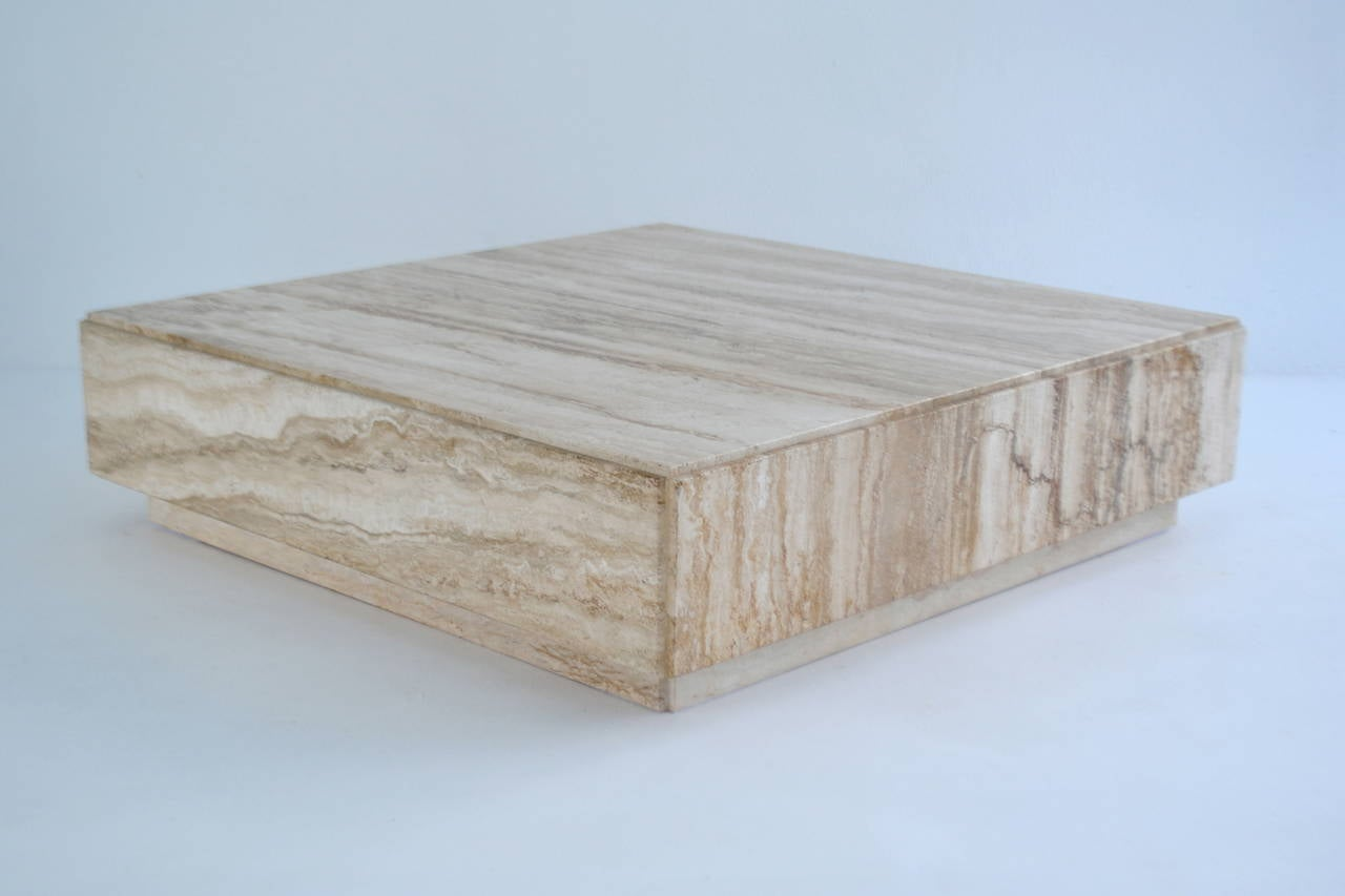 Travertine Coffee Tables Travertinetail Table With Marble Top Coffee