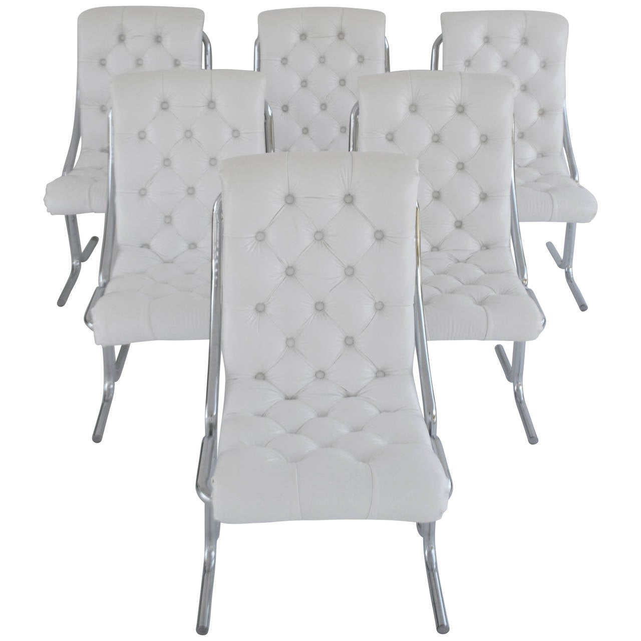 set of six tufted dining chairs at 1stdibs