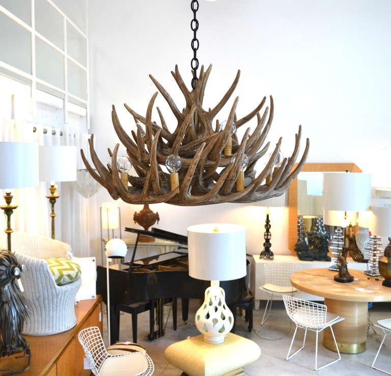 Faux Deer Antler Chandelier 3