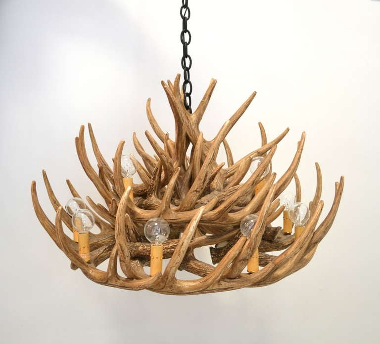 Faux Deer Antler Chandelier 4