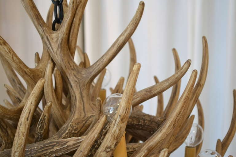Faux Deer Antler Chandelier 6