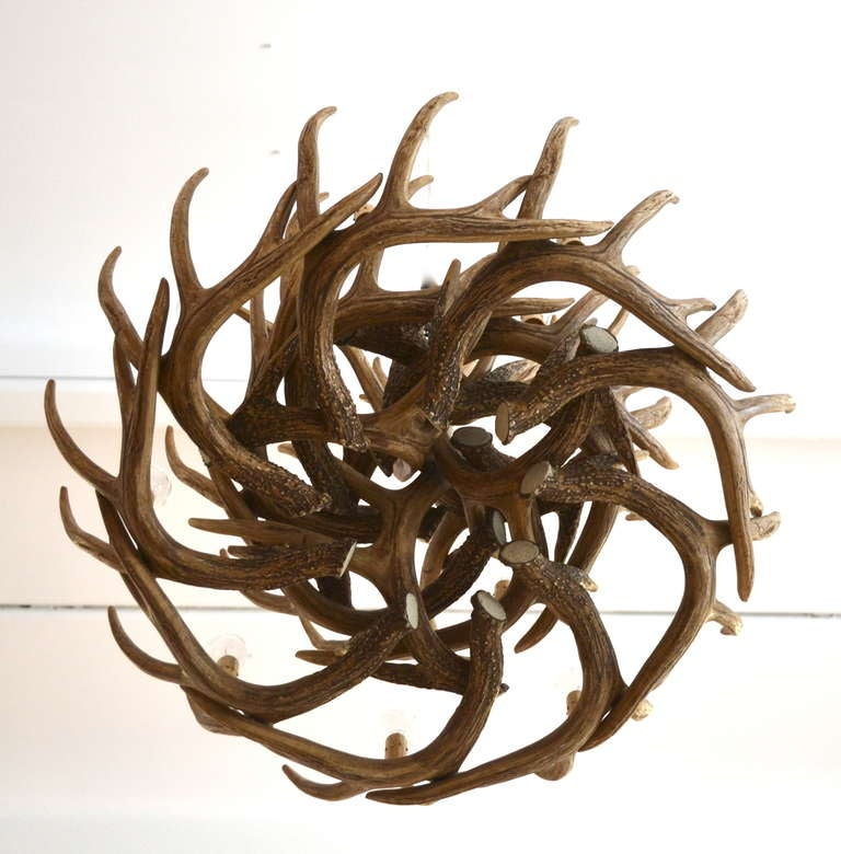 Faux Deer Antler Chandelier 7