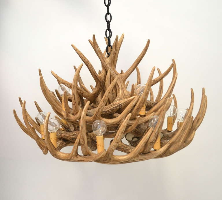 Faux Deer Antler Chandelier 8