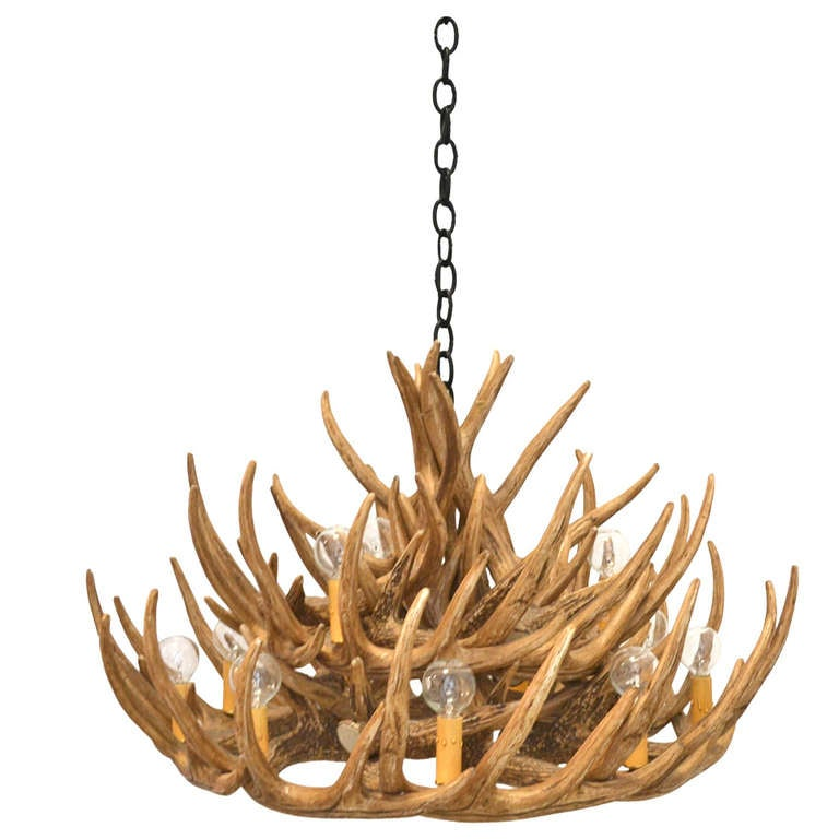 Faux Deer Antler Chandelier 1