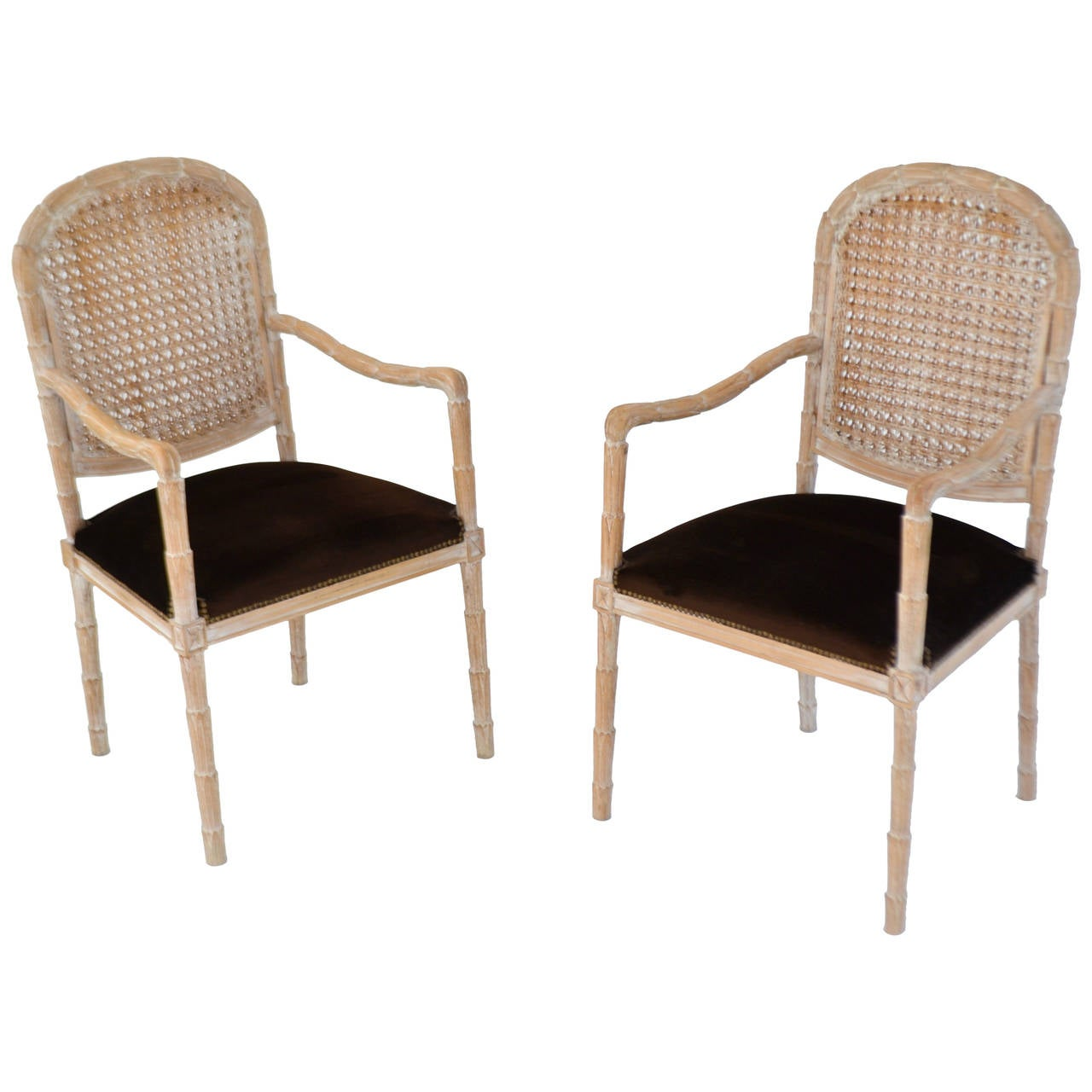 Pair of Italian Hand-Carved Hall Chairs by Boffi For Sale