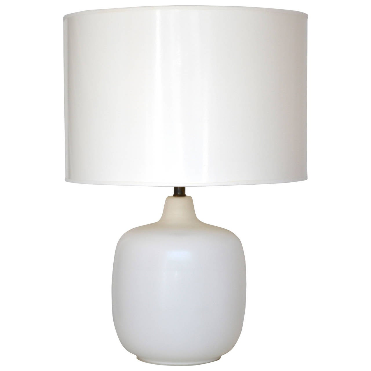 this mid century modern white glazed ceramic table lamp is no longer. Black Bedroom Furniture Sets. Home Design Ideas