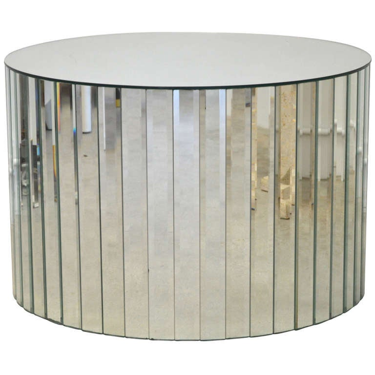 Mirrored Drum Table For Sale