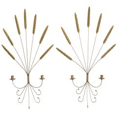 Decorative Brass and Wrought Iron Sconces
