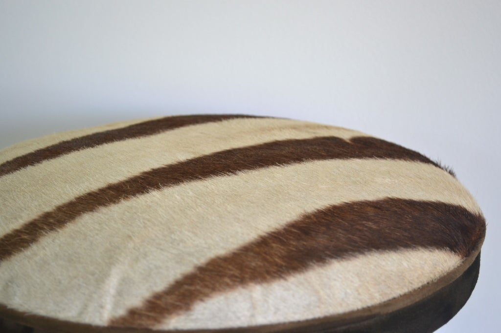 Elephant Foot Stool With Zebra Skin Top At 1stdibs