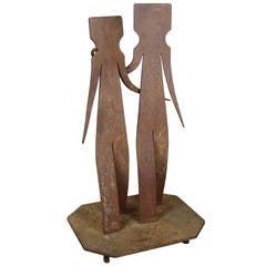 """Couple"" Steel Sculpture"