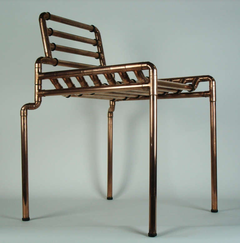 An architectural copper tubing chair at 1stdibs