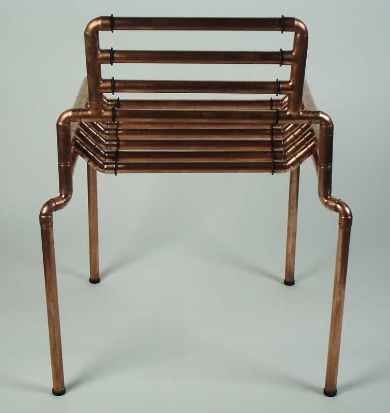 an architectural copper tubing chair at 1stdibs. Black Bedroom Furniture Sets. Home Design Ideas