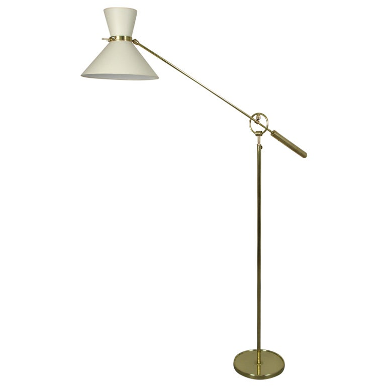 a 1950 39 s counterweight floor lamp at 1stdibs. Black Bedroom Furniture Sets. Home Design Ideas