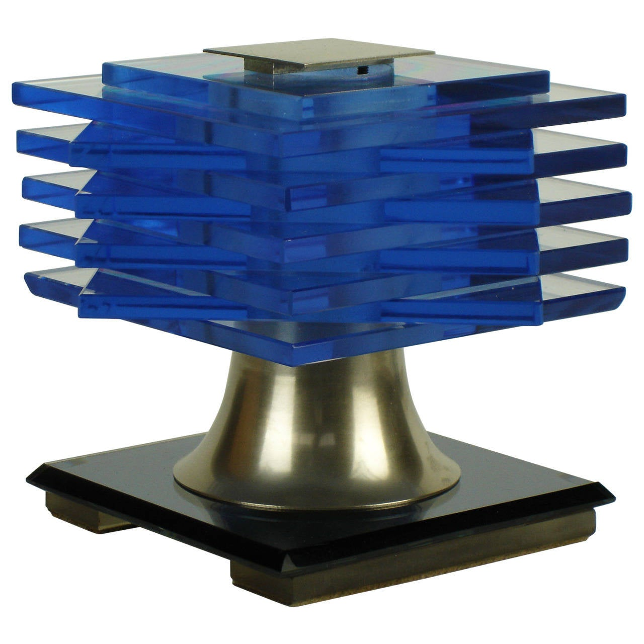 blue glass table lamp by maison desny. Black Bedroom Furniture Sets. Home Design Ideas