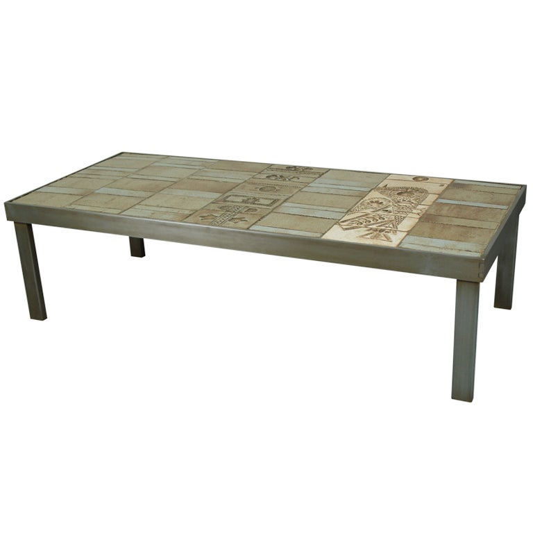 a coffee table by roger capron at 1stdibs. Black Bedroom Furniture Sets. Home Design Ideas