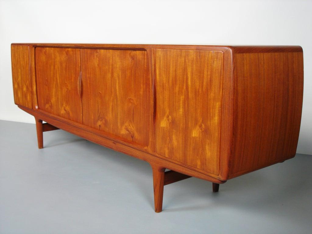 Teak wood sideboard by johannes andersen at stdibs