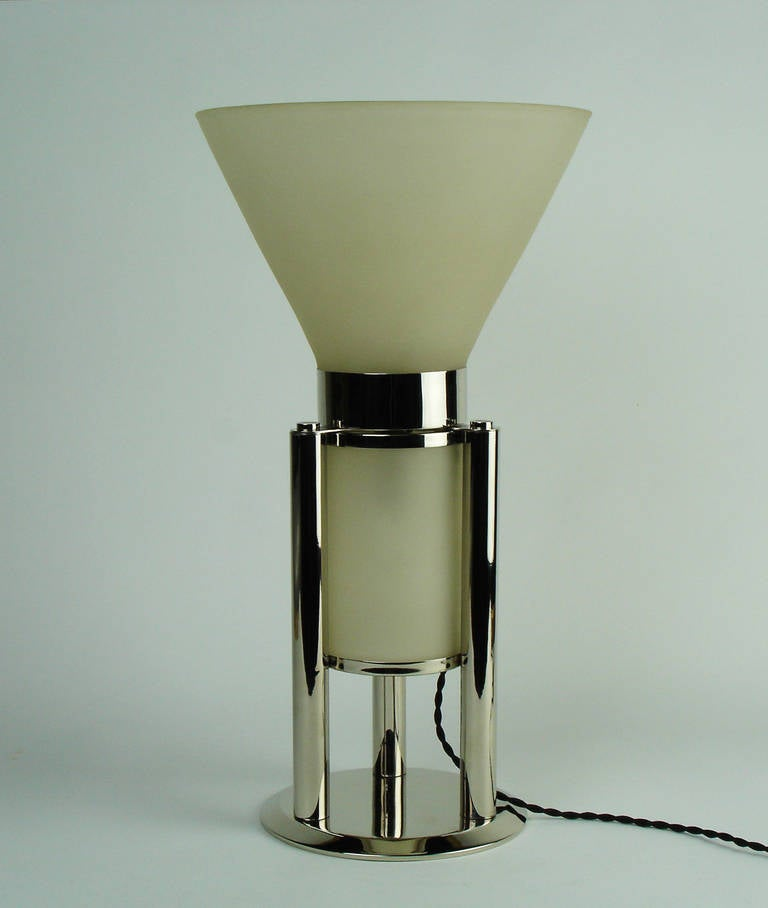 art deco modernist lamp by jean boris lacroix at 1stdibs. Black Bedroom Furniture Sets. Home Design Ideas