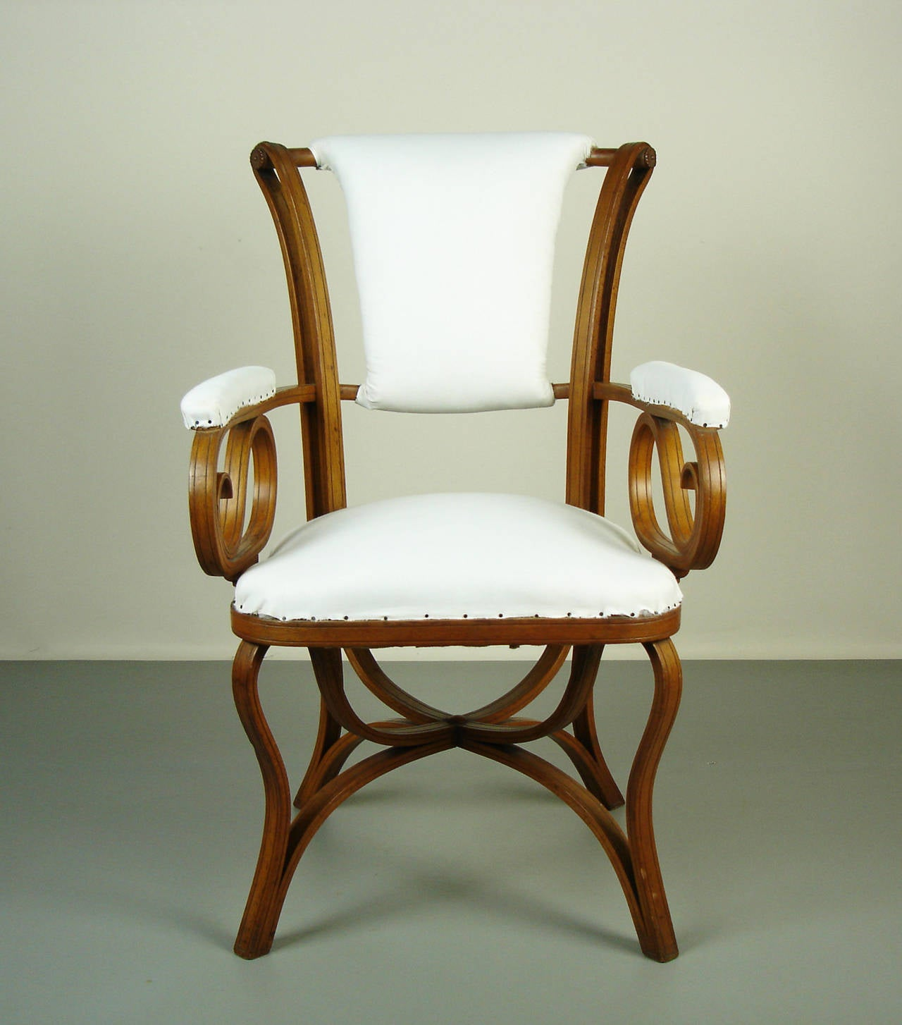 bent wood armchair by thonet at 1stdibs