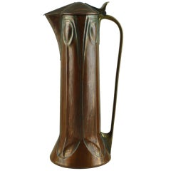 Copper & brass jug by Albin Muller