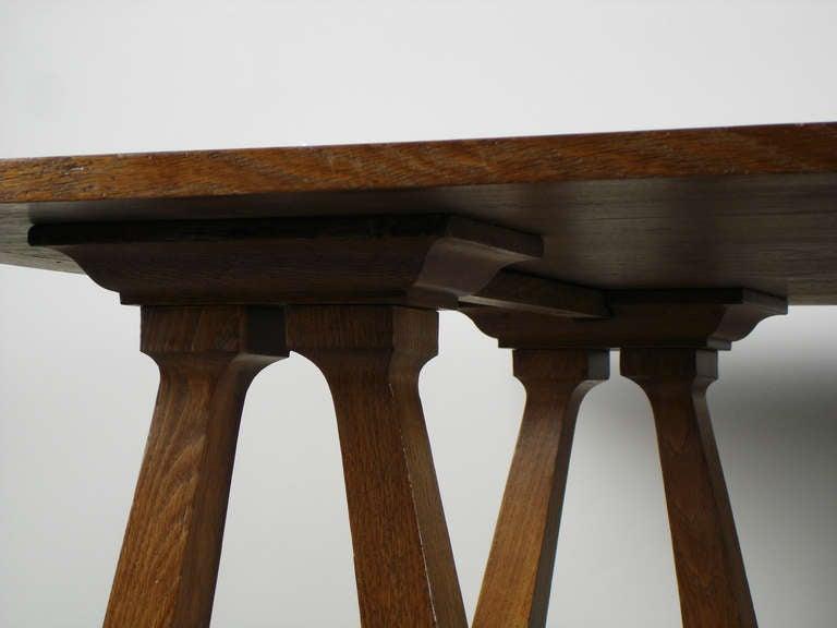 Art nouveau trestle table For Sale 2