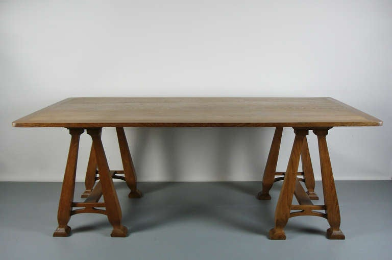 solid oak table ,with  typical