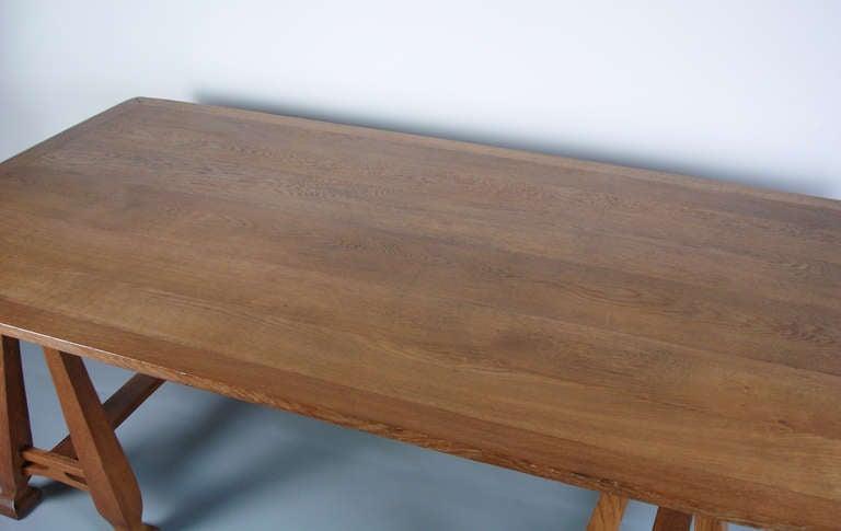 20th Century Art nouveau trestle table For Sale