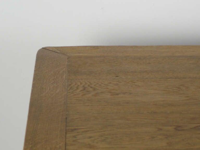 Oak Art nouveau trestle table For Sale