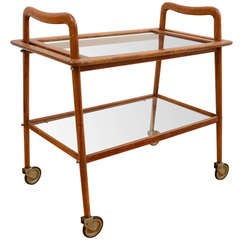 Sculptural Ico Parisi Bar Cart