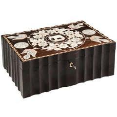Anglo-Indian Ebony Cigar Humidor Box