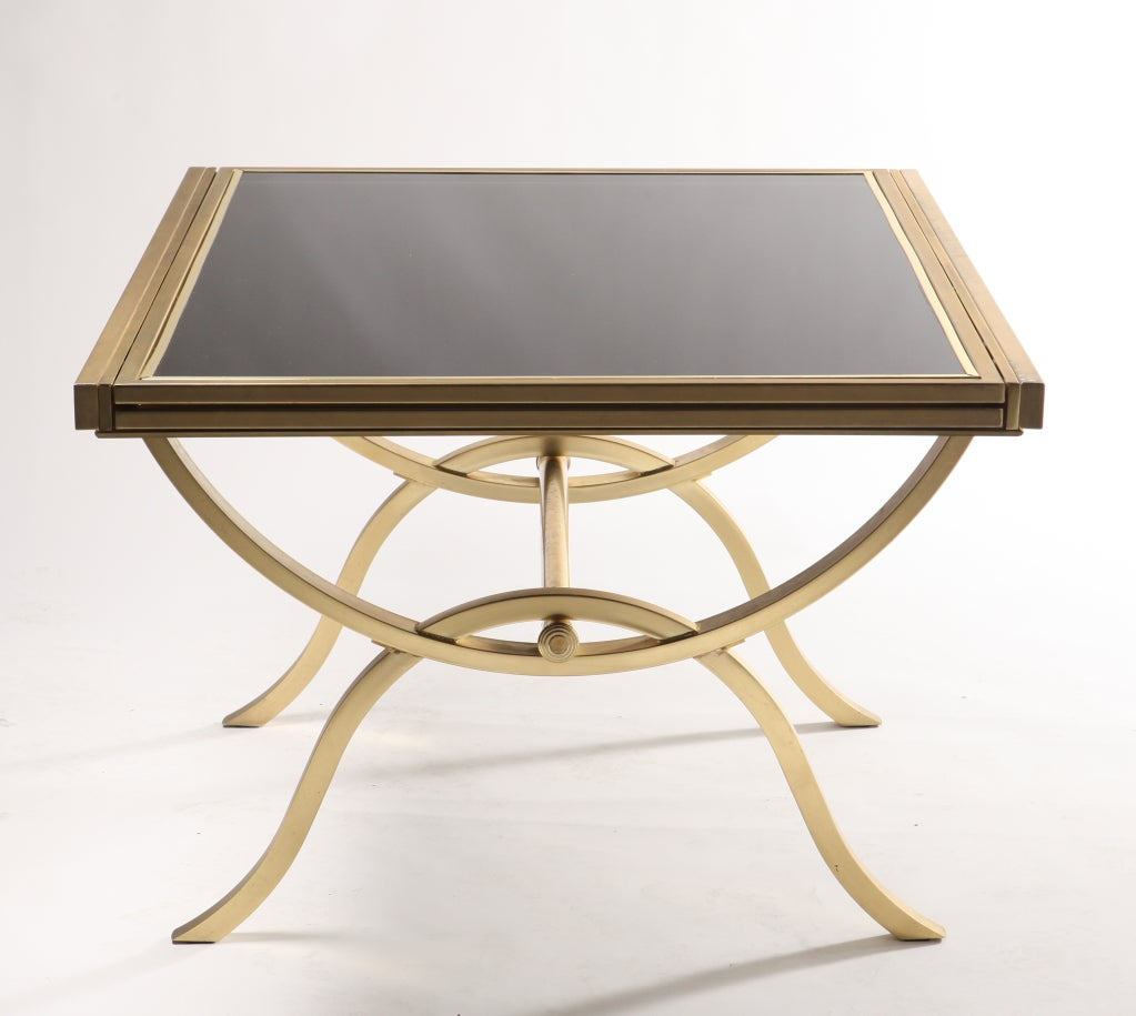 vintage smoked glass extension table at 1stdibs