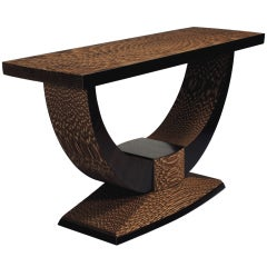 """Console Table"" Sculptural Cardboard Console Table by Brian Gladwell"