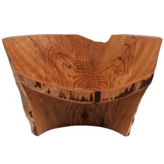 """""""Pine Chair"""" Carved Pine Chair by Howard Werner"""