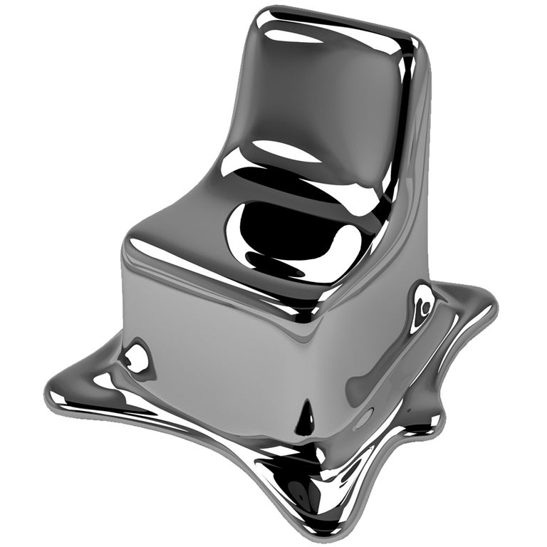 Contemporary Melting Chair in Black Chrome (Edition 2/12) For Sale
