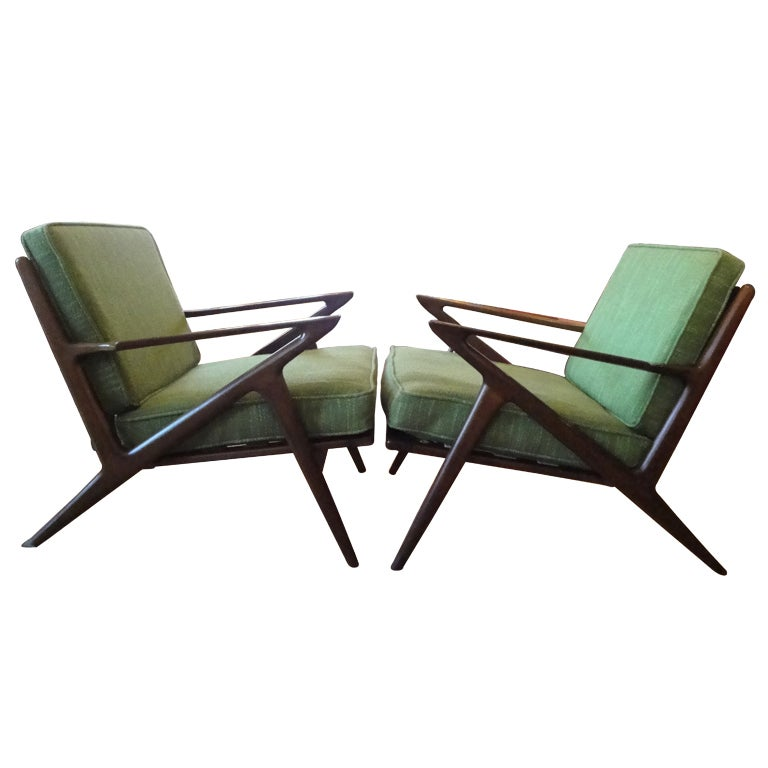 Poul jensen for selig z chairs at 1stdibs for Poul jensen z chair