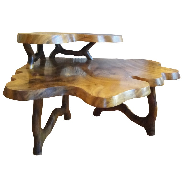 Exotic Wood Free Form End Table At 1stdibs