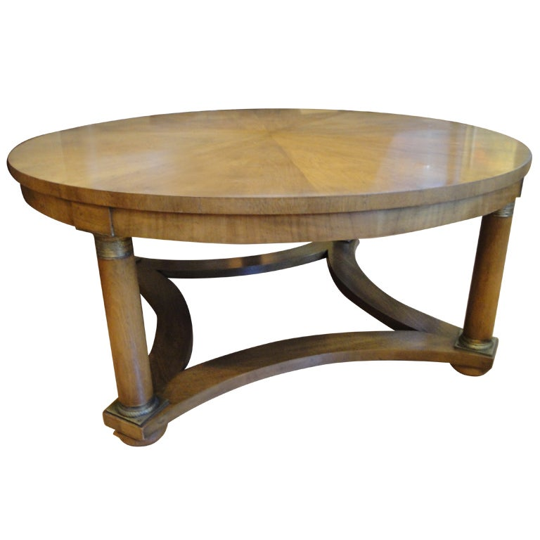 Empire Style Coffee Table By Baker Furniture At 1stdibs