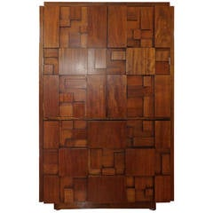 """Mosaic"" Cubist Walnut Tile Dresser by Lane Furniture"