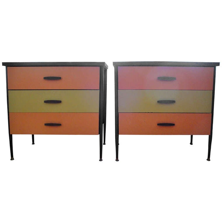 70 39 s mod steel and painted wood dressers by cal style at for Furniture 70s style