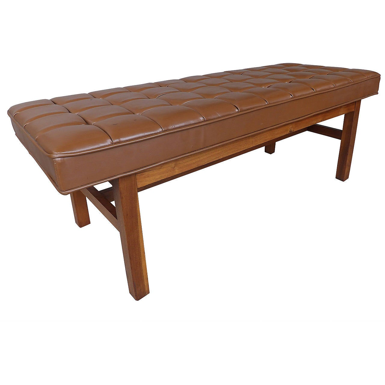 Classic Mid Century Modern Button Tufted Bench For Sale At 1stdibs
