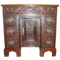 19th Century Carved Mahogany Desk
