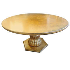 1960's Gold Leaf Circular Dining or Game Table