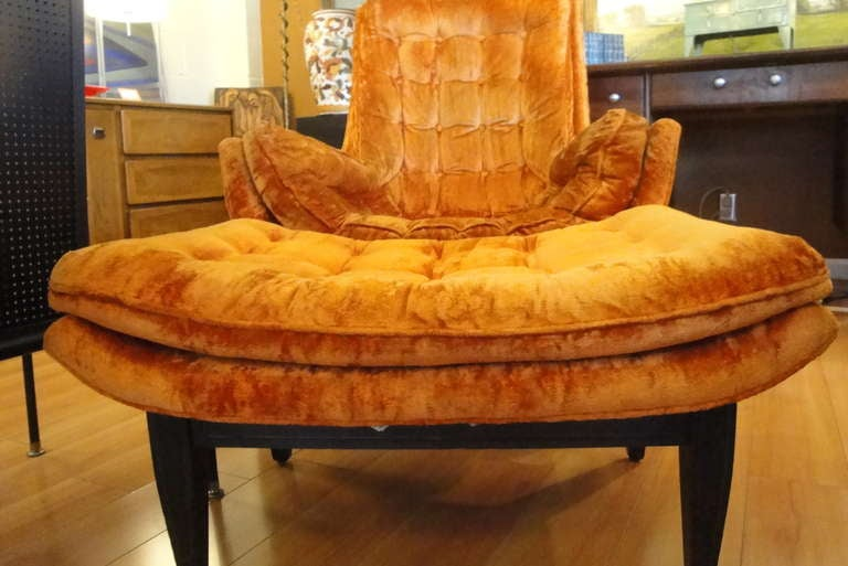 Distinctive 70 S Mod Lounge Chair And Ottoman At 1stdibs
