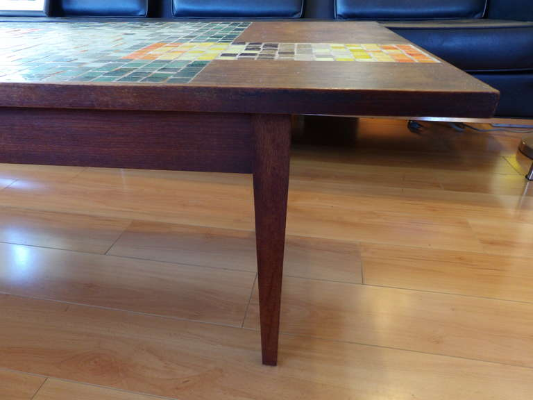 Geometric Mosaic Tile Coffee Table At 1stdibs