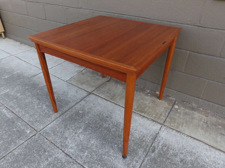 this poul hundevad convertible teak game or dining table is no longer