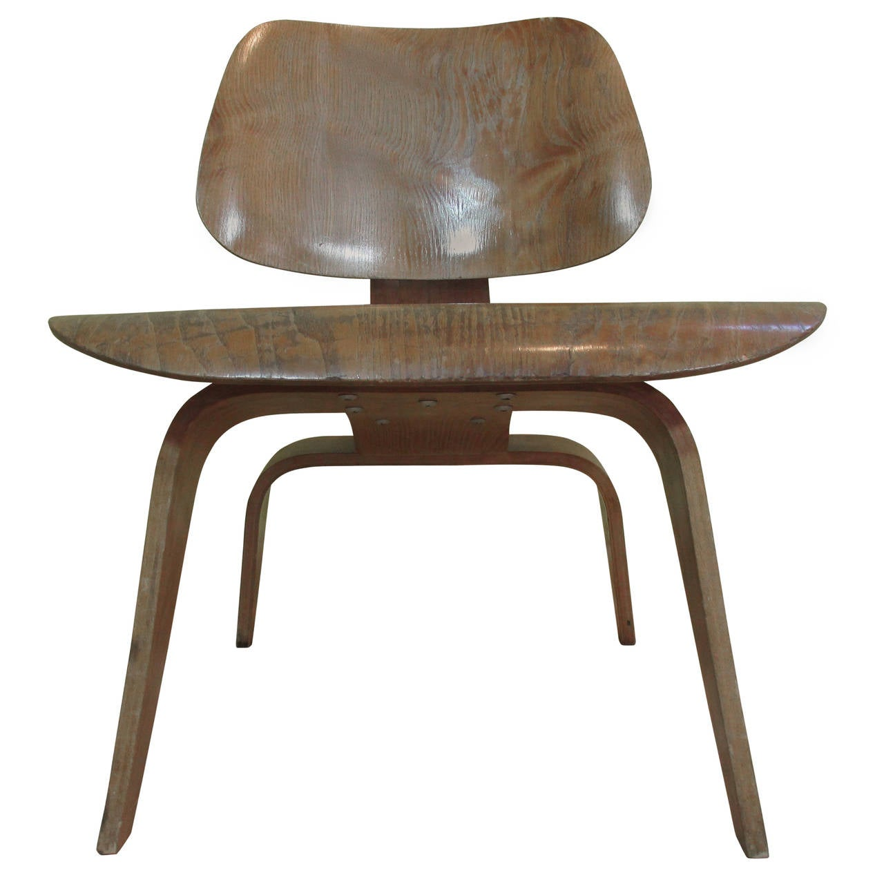 Eames LCW Molded Plywood Lounge Chair Evans For Sale at 1stdibs